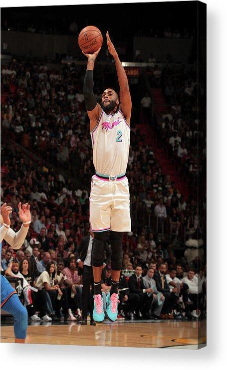 Nba Pro Basketball Acrylic Print featuring the photograph Wayne Ellington by Oscar Baldizon