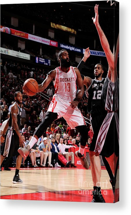 Nba Pro Basketball Acrylic Print featuring the photograph James Harden by Bill Baptist