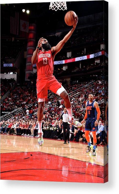 Nba Pro Basketball Acrylic Print featuring the photograph James Harden by Bill Baptist