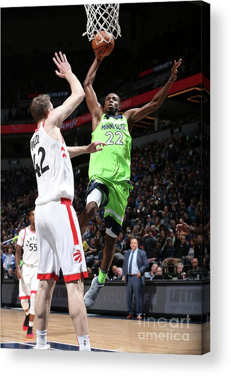 Nba Pro Basketball Acrylic Print featuring the photograph Andrew Wiggins by David Sherman