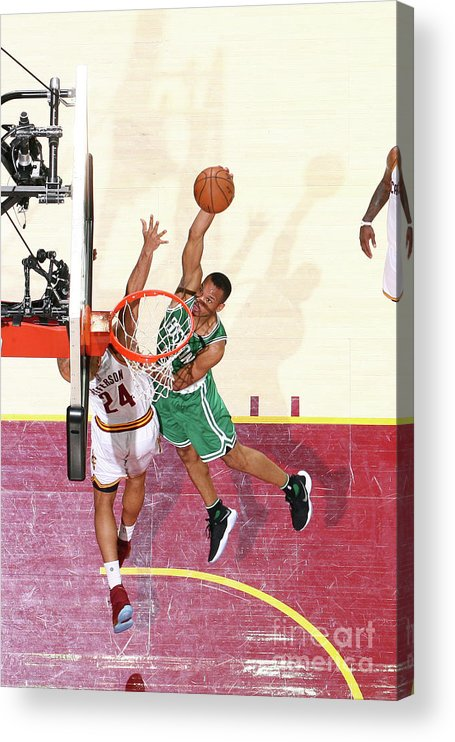 Playoffs Acrylic Print featuring the photograph Avery Bradley by Nathaniel S. Butler