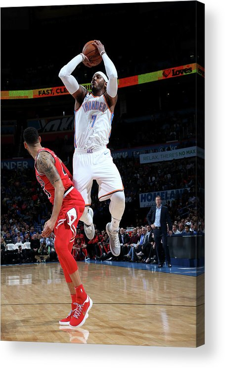 Nba Pro Basketball Acrylic Print featuring the photograph Carmelo Anthony by Layne Murdoch