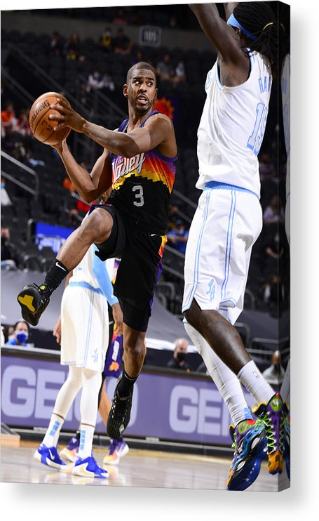 Nba Pro Basketball Acrylic Print featuring the photograph Chris Paul by Barry Gossage