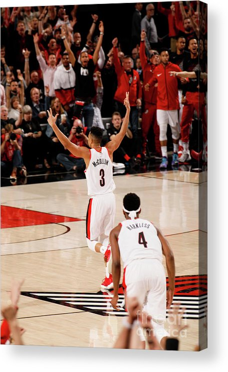 Playoffs Acrylic Print featuring the photograph C.j. Mccollum by Cameron Browne