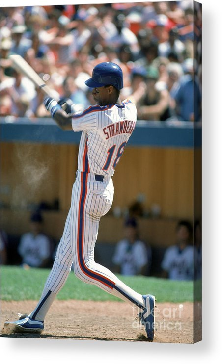 1980-1989 Acrylic Print featuring the photograph Darryl Strawberry by Rich Pilling
