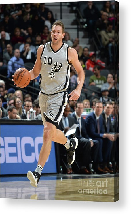 Nba Pro Basketball Acrylic Print featuring the photograph David Lee by Mark Sobhani
