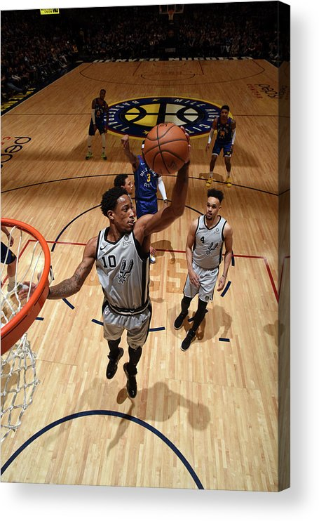 Playoffs Acrylic Print featuring the photograph Demar Derozan by Garrett Ellwood