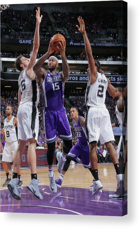 Nba Pro Basketball Acrylic Print featuring the photograph Demarcus Cousins by Rocky Widner