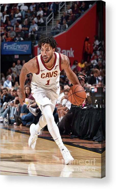 Nba Pro Basketball Acrylic Print featuring the photograph Derrick Rose by David Liam Kyle