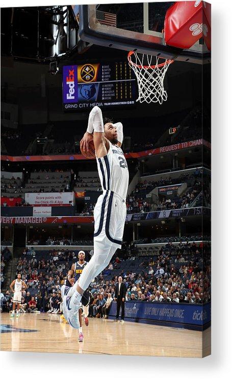 Nba Pro Basketball Acrylic Print featuring the photograph Dillon Brooks by Joe Murphy
