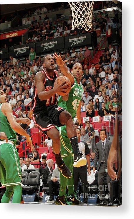 Nba Pro Basketball Acrylic Print featuring the photograph Dion Waiters by Oscar Baldizon