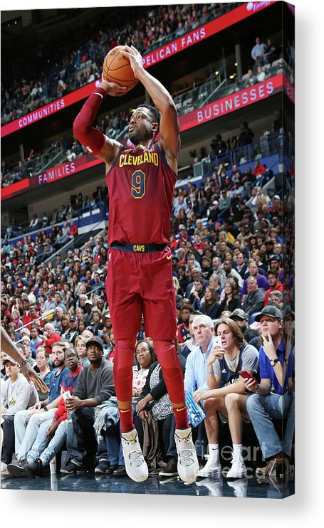 Smoothie King Center Acrylic Print featuring the photograph Dwyane Wade by Layne Murdoch