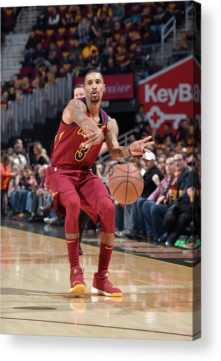Nba Pro Basketball Acrylic Print featuring the photograph George Hill by David Liam Kyle