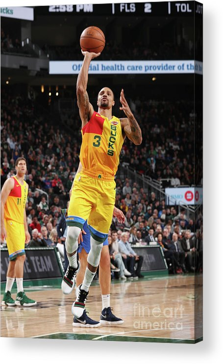 Nba Pro Basketball Acrylic Print featuring the photograph George Hill by Gary Dineen
