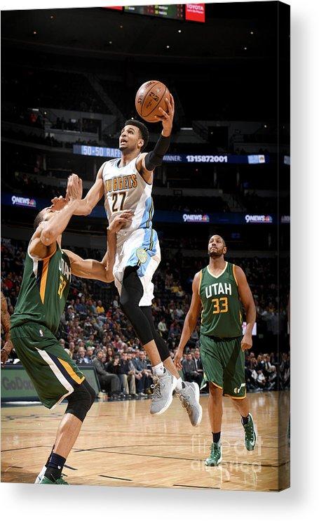 Nba Pro Basketball Acrylic Print featuring the photograph Jamal Murray by Garrett Ellwood