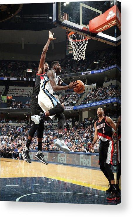 Nba Pro Basketball Acrylic Print featuring the photograph James Ennis by Joe Murphy