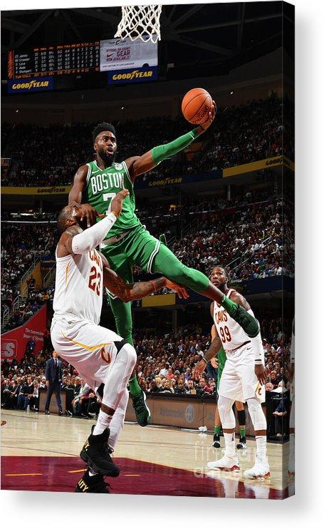 Nba Pro Basketball Acrylic Print featuring the photograph Jaylen Brown by Jesse D. Garrabrant