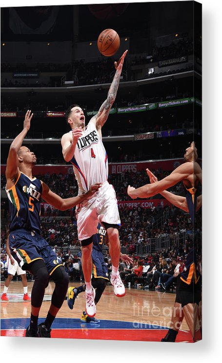 Nba Pro Basketball Acrylic Print featuring the photograph J.j. Redick by Andrew D. Bernstein