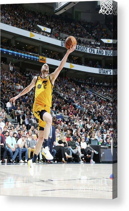 Nba Pro Basketball Acrylic Print featuring the photograph Joe Ingles by Melissa Majchrzak