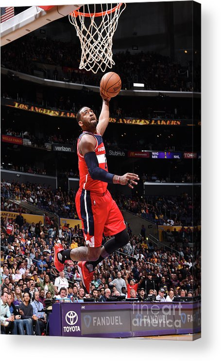 Nba Pro Basketball Acrylic Print featuring the photograph John Wall by Andrew D. Bernstein
