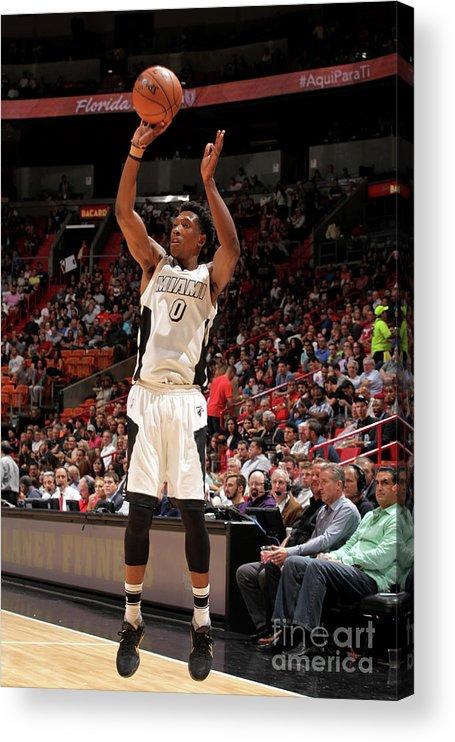 Nba Pro Basketball Acrylic Print featuring the photograph Josh Richardson by Oscar Baldizon