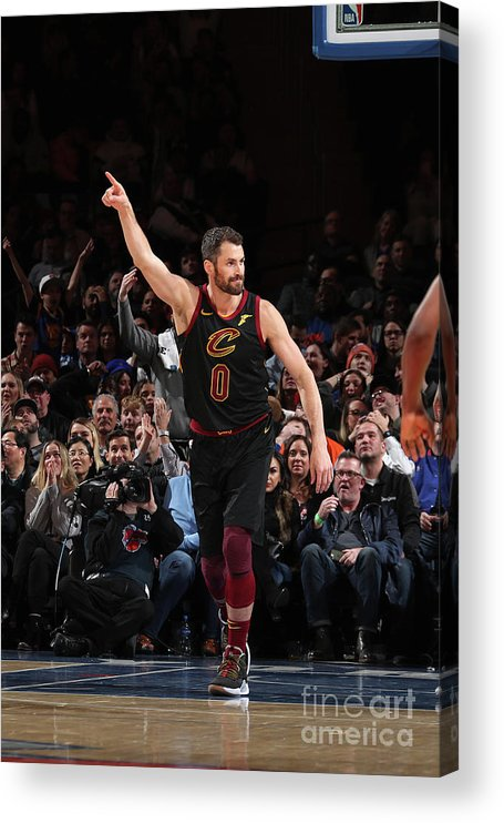 Nba Pro Basketball Acrylic Print featuring the photograph Kevin Love by Nathaniel S. Butler