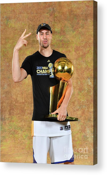 Playoffs Acrylic Print featuring the photograph Klay Thompson by Jesse D. Garrabrant