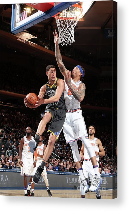 Nba Pro Basketball Acrylic Print featuring the photograph Klay Thompson by Nathaniel S. Butler