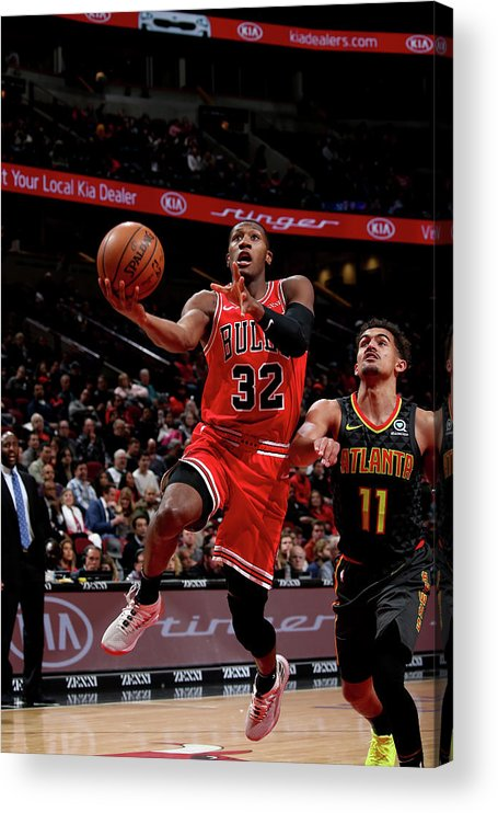 Chicago Bulls Acrylic Print featuring the photograph Kris Dunn by Gary Dineen