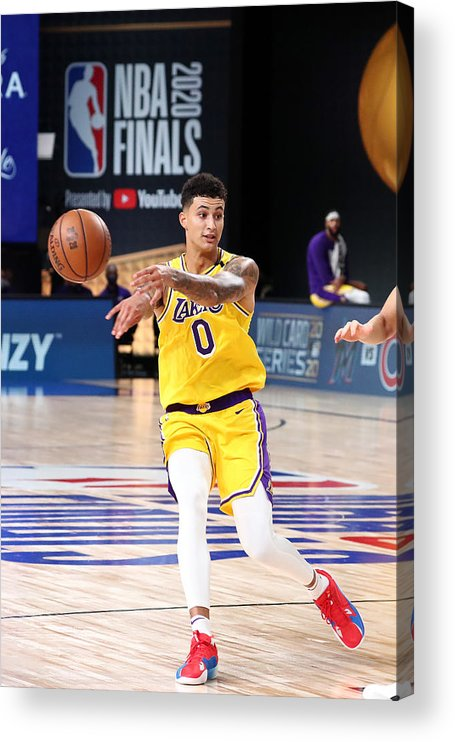 Playoffs Acrylic Print featuring the photograph Kyle Kuzma by Nathaniel S. Butler