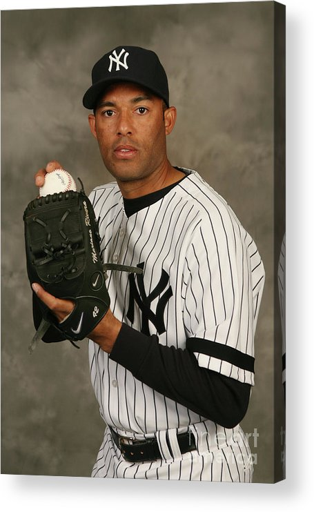 Media Day Acrylic Print featuring the photograph Mariano Rivera by Nick Laham