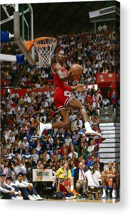 Chicago Bulls Acrylic Print featuring the photograph Michael Jordan by Andrew D. Bernstein