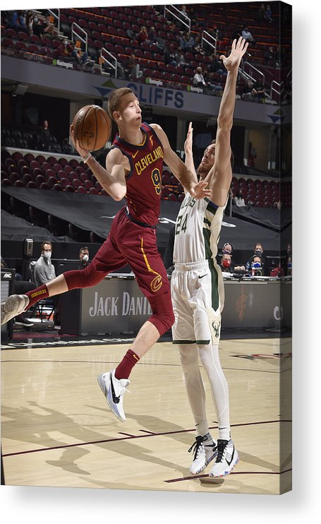 Nba Pro Basketball Acrylic Print featuring the photograph Milwaukee Bucks v Cleveland Cavaliers by David Liam Kyle
