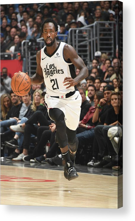 Nba Pro Basketball Acrylic Print featuring the photograph Patrick Beverley by Andrew D. Bernstein