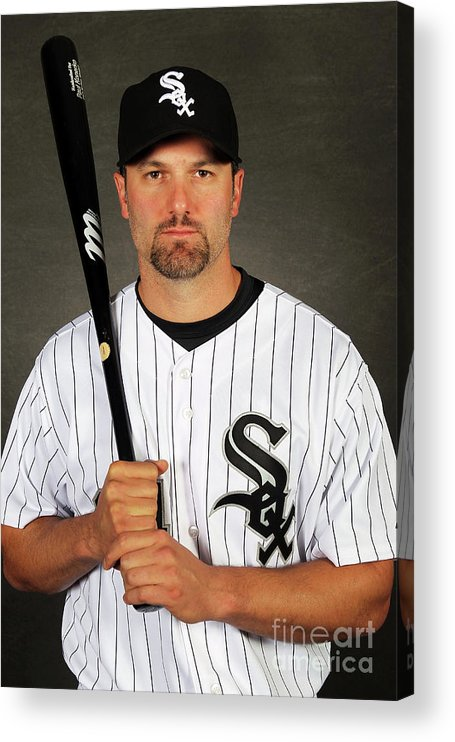 Media Day Acrylic Print featuring the photograph Paul Konerko by Jamie Squire