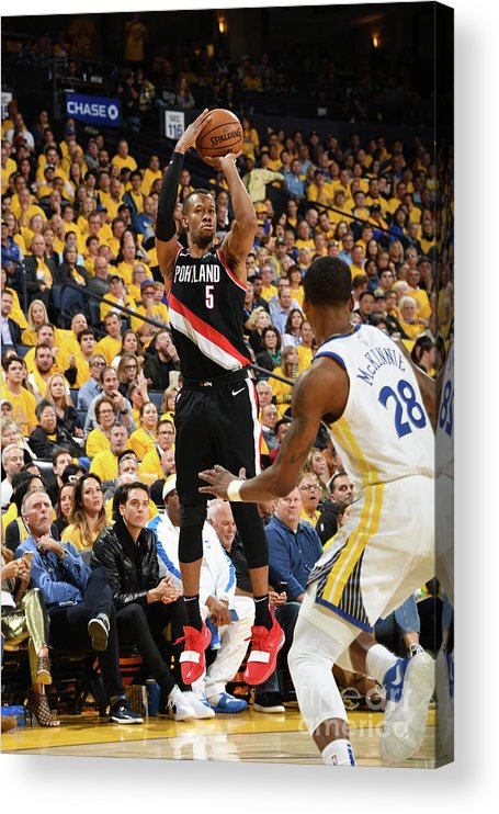 Playoffs Acrylic Print featuring the photograph Rodney Hood by Andrew D. Bernstein