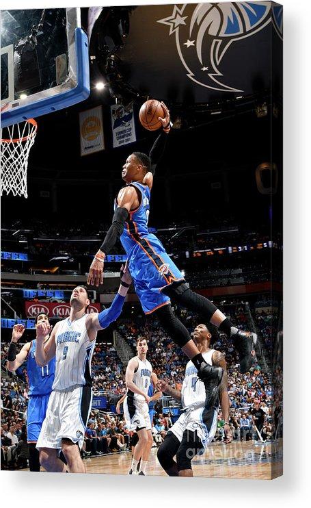 Nba Pro Basketball Acrylic Print featuring the photograph Russell Westbrook by Fernando Medina