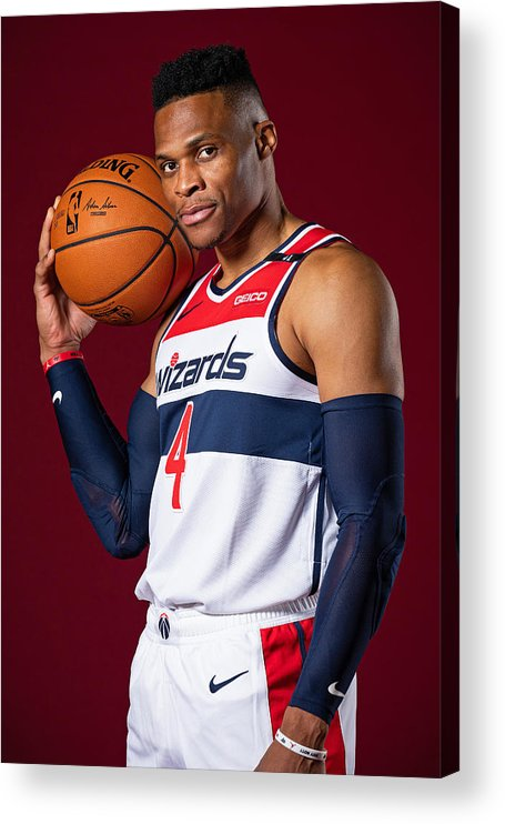 Media Day Acrylic Print featuring the photograph Russell Westbrook by Stephen Gosling