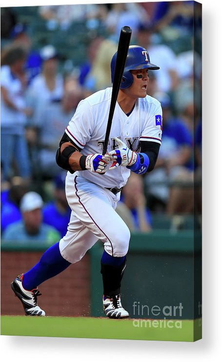 Second Inning Acrylic Print featuring the photograph Shin-soo Choo by Tom Pennington