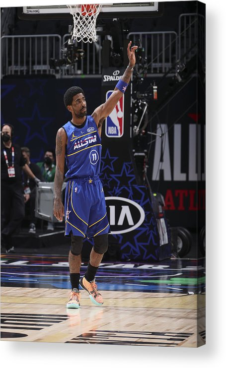 Atlanta Acrylic Print featuring the photograph Kyrie Irving by Nathaniel S. Butler