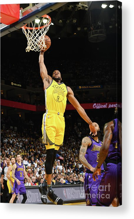Nba Pro Basketball Acrylic Print featuring the photograph Andre Iguodala by Noah Graham