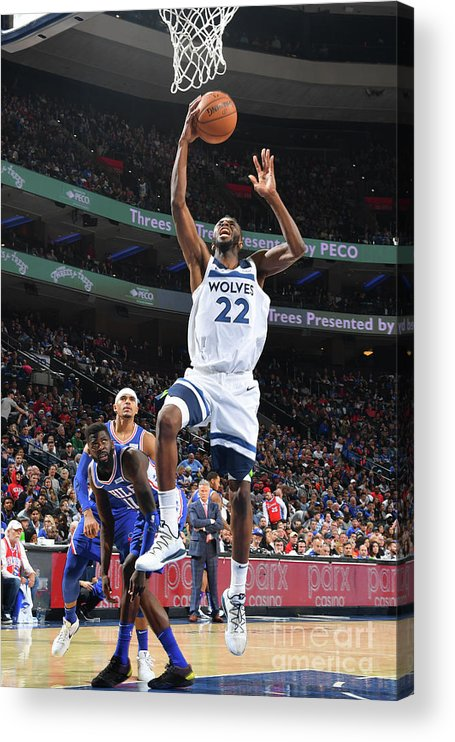 Nba Pro Basketball Acrylic Print featuring the photograph Andrew Wiggins by Jesse D. Garrabrant