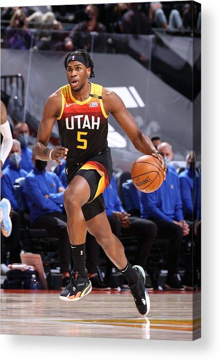 Nba Pro Basketball Acrylic Print featuring the photograph Dallas Mavericks v Utah Jazz by Melissa Majchrzak