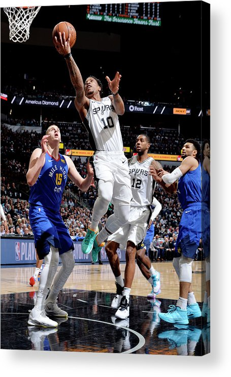 Playoffs Acrylic Print featuring the photograph Demar Derozan by Mark Sobhani