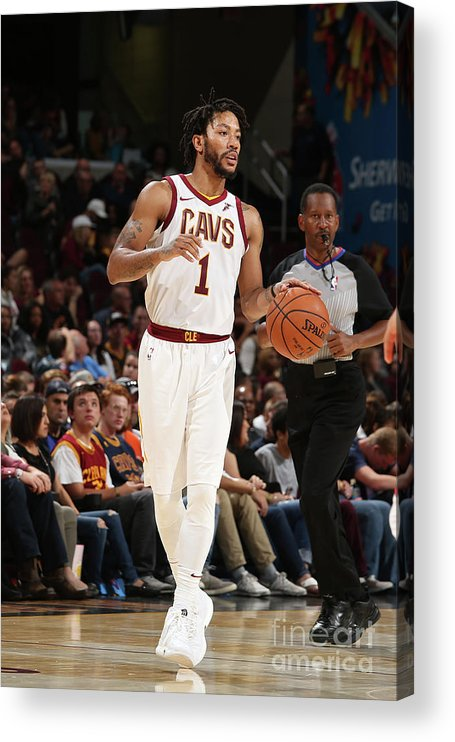 Nba Pro Basketball Acrylic Print featuring the photograph Derrick Rose by Gary Dineen