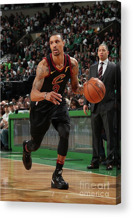 Nba Pro Basketball Acrylic Print featuring the photograph George Hill by Nathaniel S. Butler