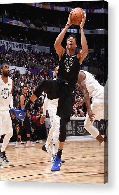 Nba Pro Basketball Acrylic Print featuring the photograph Giannis Antetokounmpo by Andrew D. Bernstein