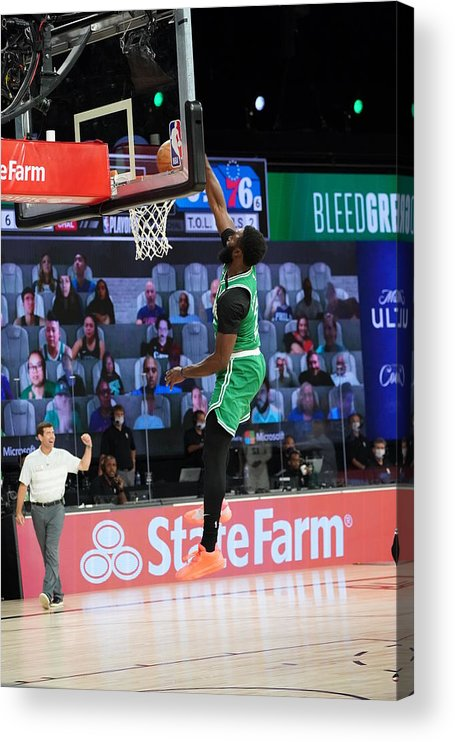Playoffs Acrylic Print featuring the photograph Jaylen Brown by Jesse D. Garrabrant