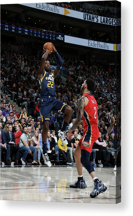 Nba Pro Basketball Acrylic Print featuring the photograph Jeff Green by Melissa Majchrzak
