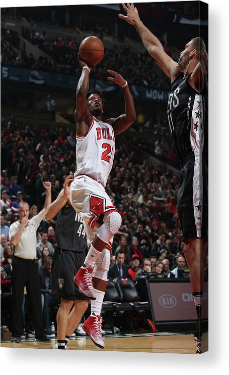 Nba Pro Basketball Acrylic Print featuring the photograph Jimmy Butler by Gary Dineen